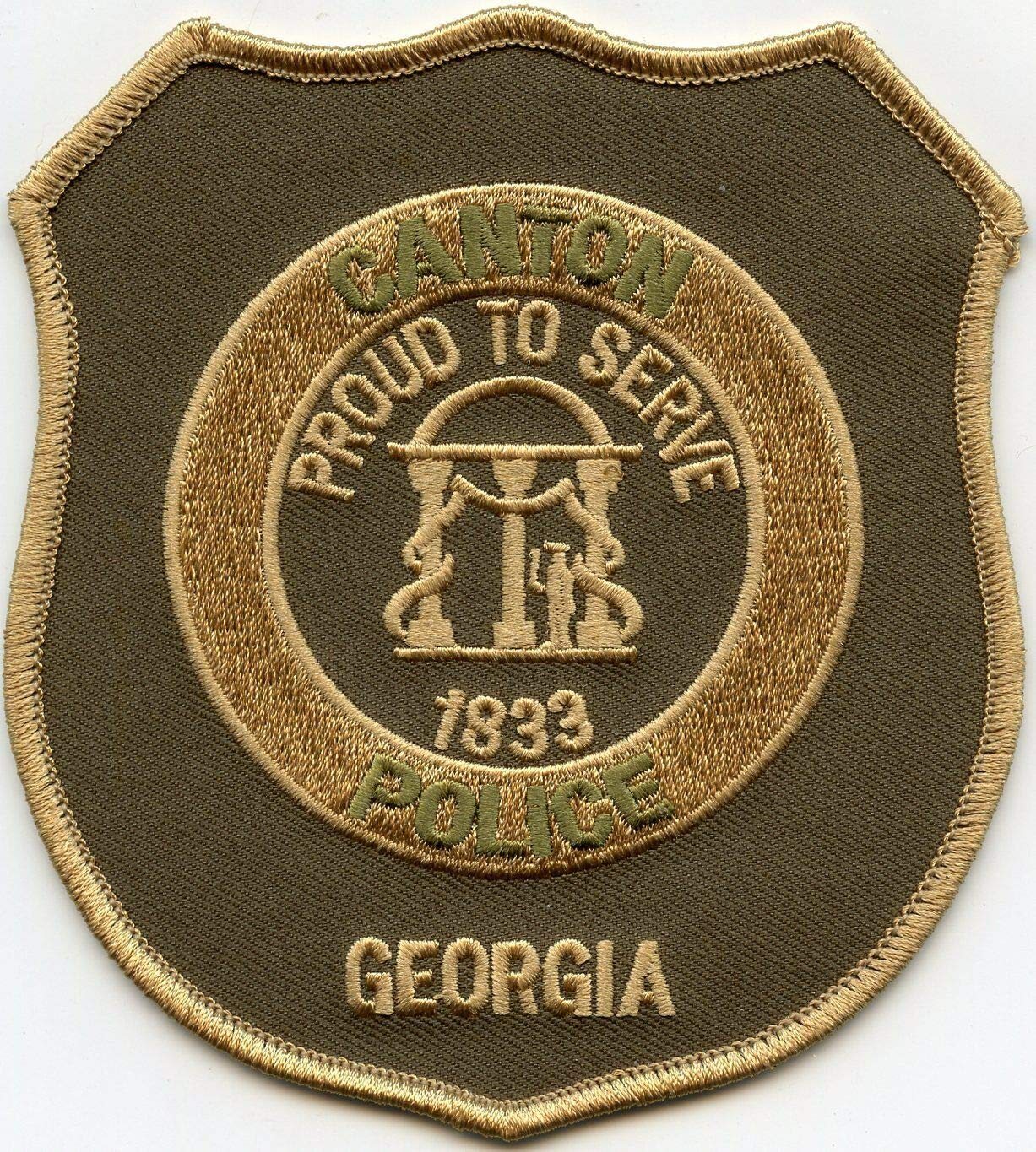 Embroidered Patch - Patches for Women Man - Canton Georgia GA Proud to Serve Police by Patcherer