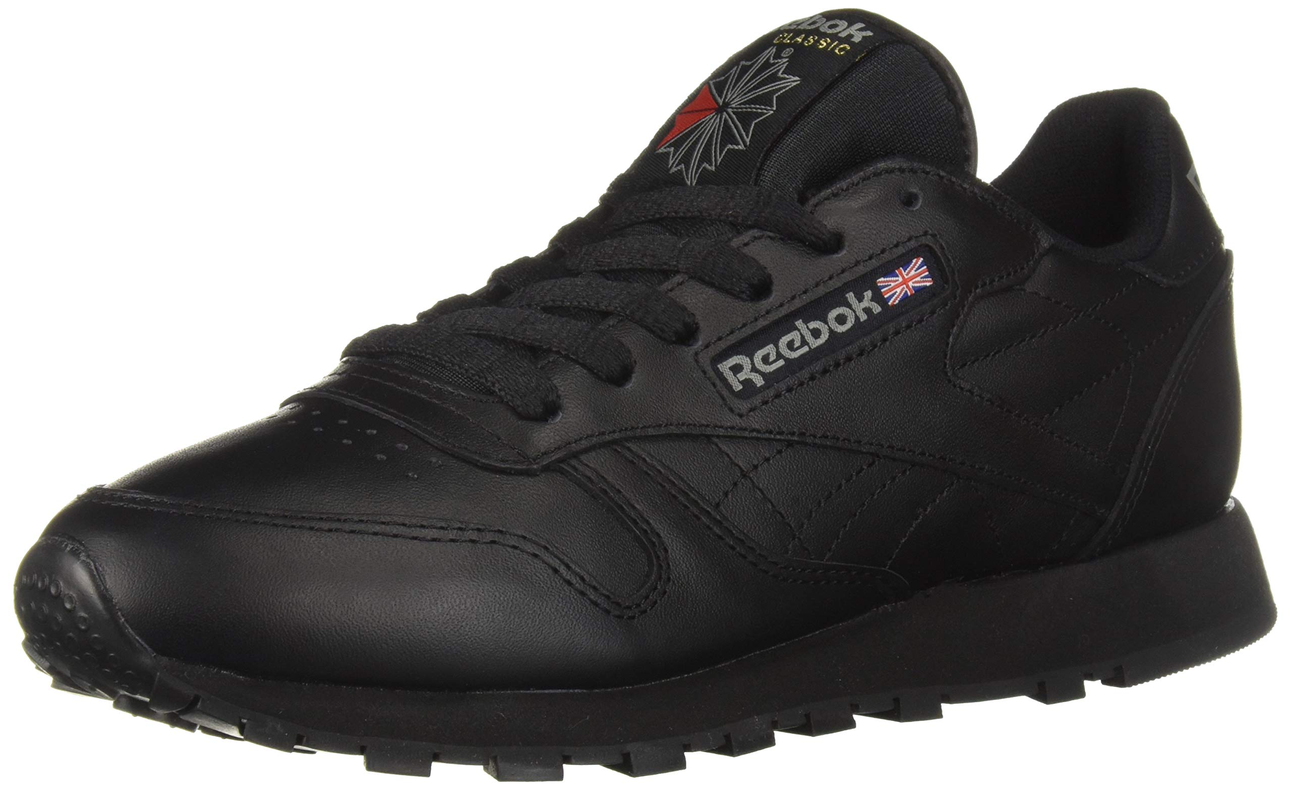 Reebok Men's Classic Leather Sneaker, Black, 10.5 M by Reebok