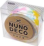 KAWAGUCHI(カワグチ) NUNO DECO TAPE ヌノデコテープ 1.5cm幅 1.2m巻 森のうたきいろ 15-242