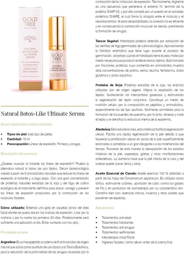 Gold Tree Barcelona Natural Botox Ultimate Serum 15 ml 150 g ...