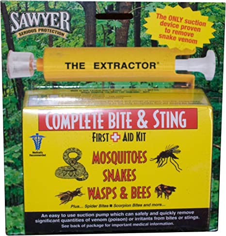 The Extractor Pump Kit Bite Sting Kit Venom Suction Insects Snakes Cups  !jp HR