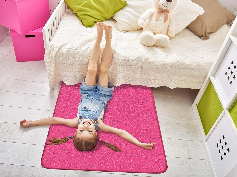 Kinderteppich Schwarz mit Glitzereffekt Harrow Flash Kurzflor Jugend-Zimmer-Teppich Kinderzimmerteppich 100x200 cm
