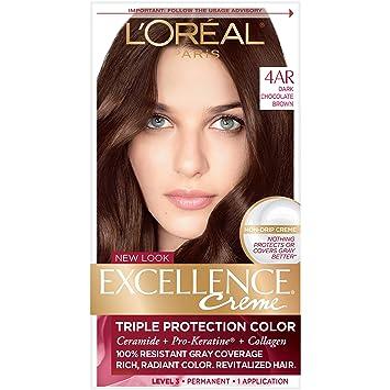 Amazon Com L Oreal Paris Excellence Creme Permanent Hair Color 4ar