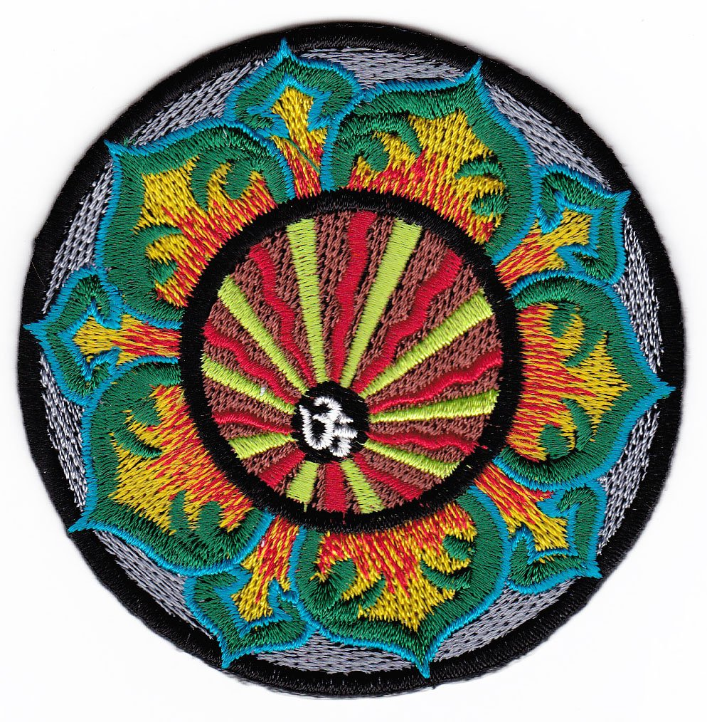 India Nepal Yoga Tibet Sew-On Badge / Iron-On Patch ca. 8 x 8 cm Bestellmich.com