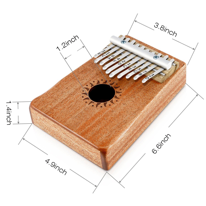 Donner DKL-17 17 Teclas Kalimba//Thumb Piano//Piano de pulgar Cuerpo de Caoba