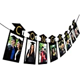 2019 2020 Graduation Photo Banner Party Supplies - Congrats Grad Garland Decorations Favors 2PCS