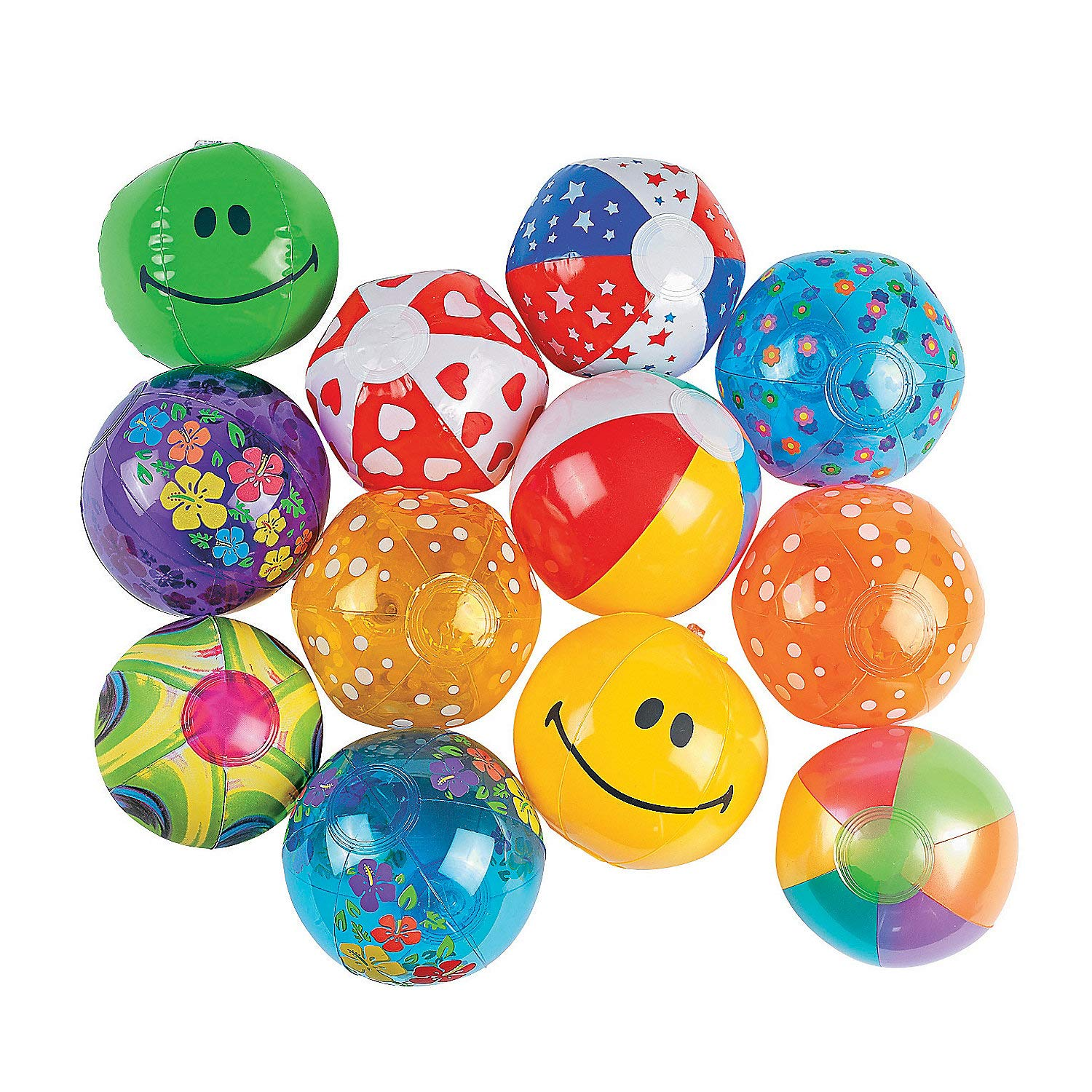Fun Express - Mini Beach Ball Assortment 50pc - Toys - Assortments - 50Pc Assortments - 50 Pieces