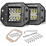 OFFROADTOWN Flush Mount LED Pods, 2pcs 5'' 78W Driving Lights LED Work Light Flush LED Light Bar Super Bright Fog Lights…