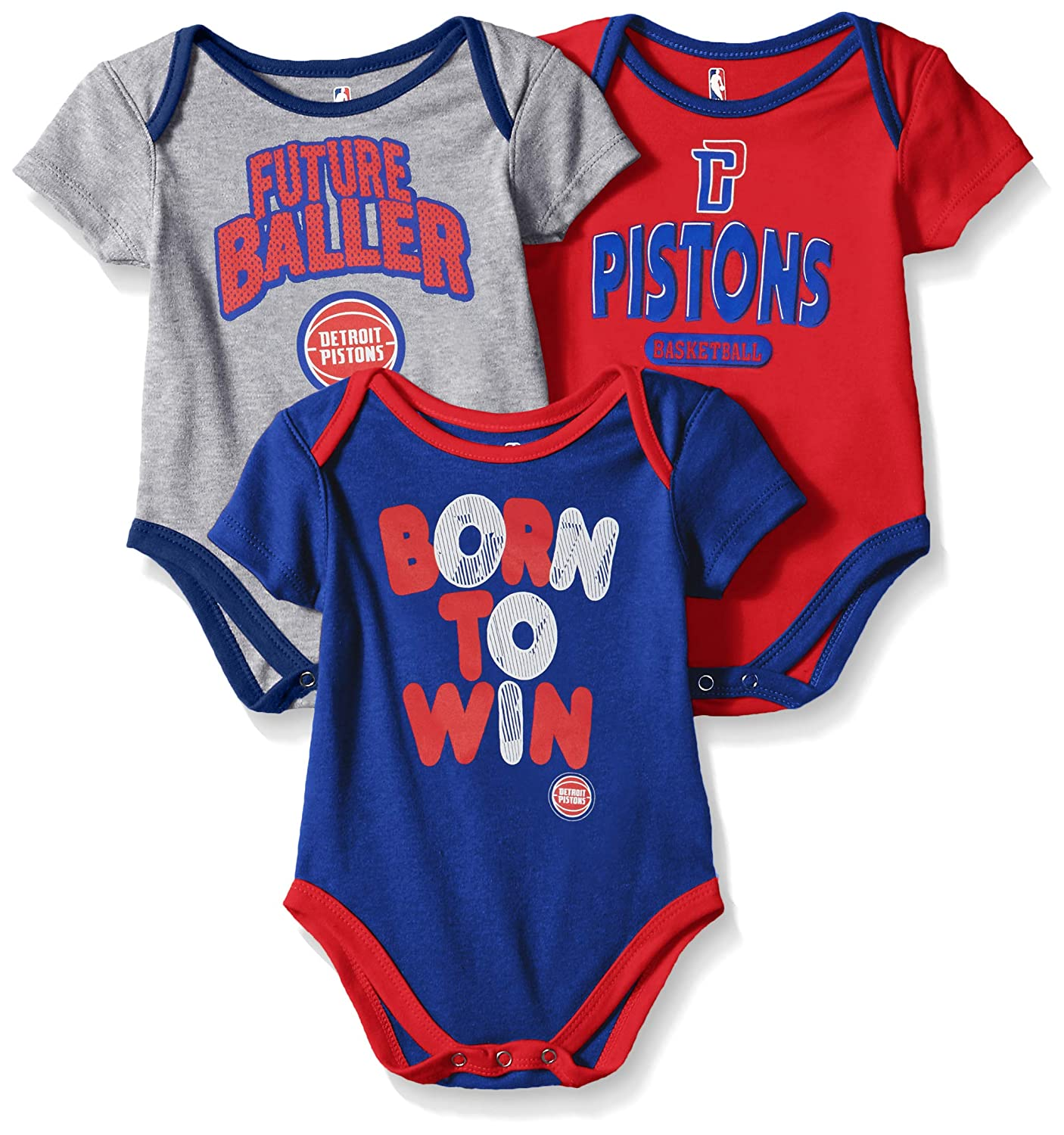 87182ebc99a NBA by Outerstuff NBA Newborn   Infant Detroit Pistons Little Fan 3pc  Bodysuit Set