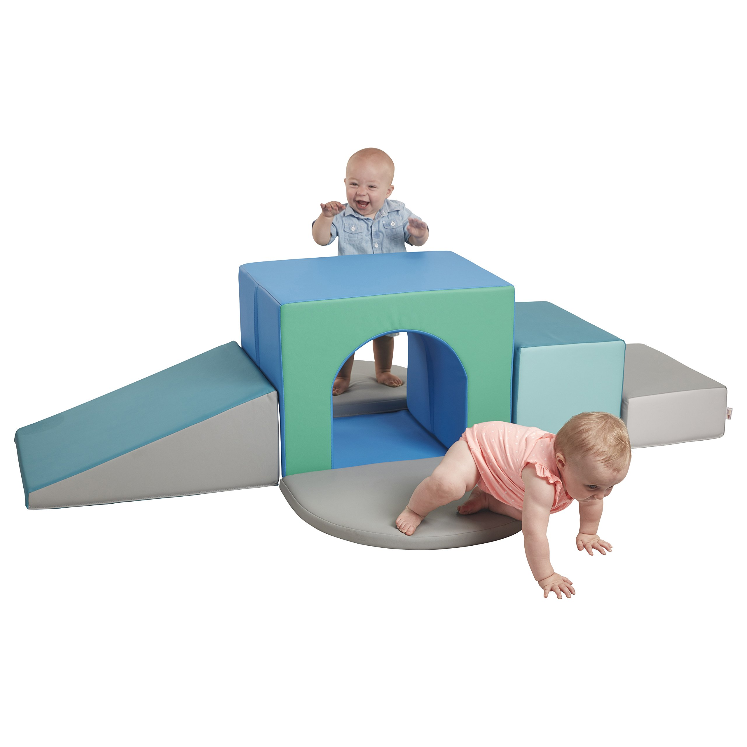ECR4Kids SoftZone Junior Single Tunnel Maze Soft Foam Climber for Toddler Active Play, Contemporary
