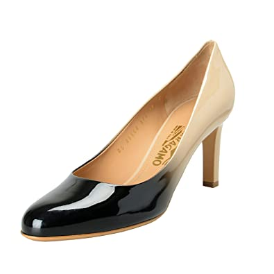 3cb54be5fdf9 Image Unavailable. Image not available for. Color  Salvatore Ferragamo  Women s Leo Leather High Heel ...