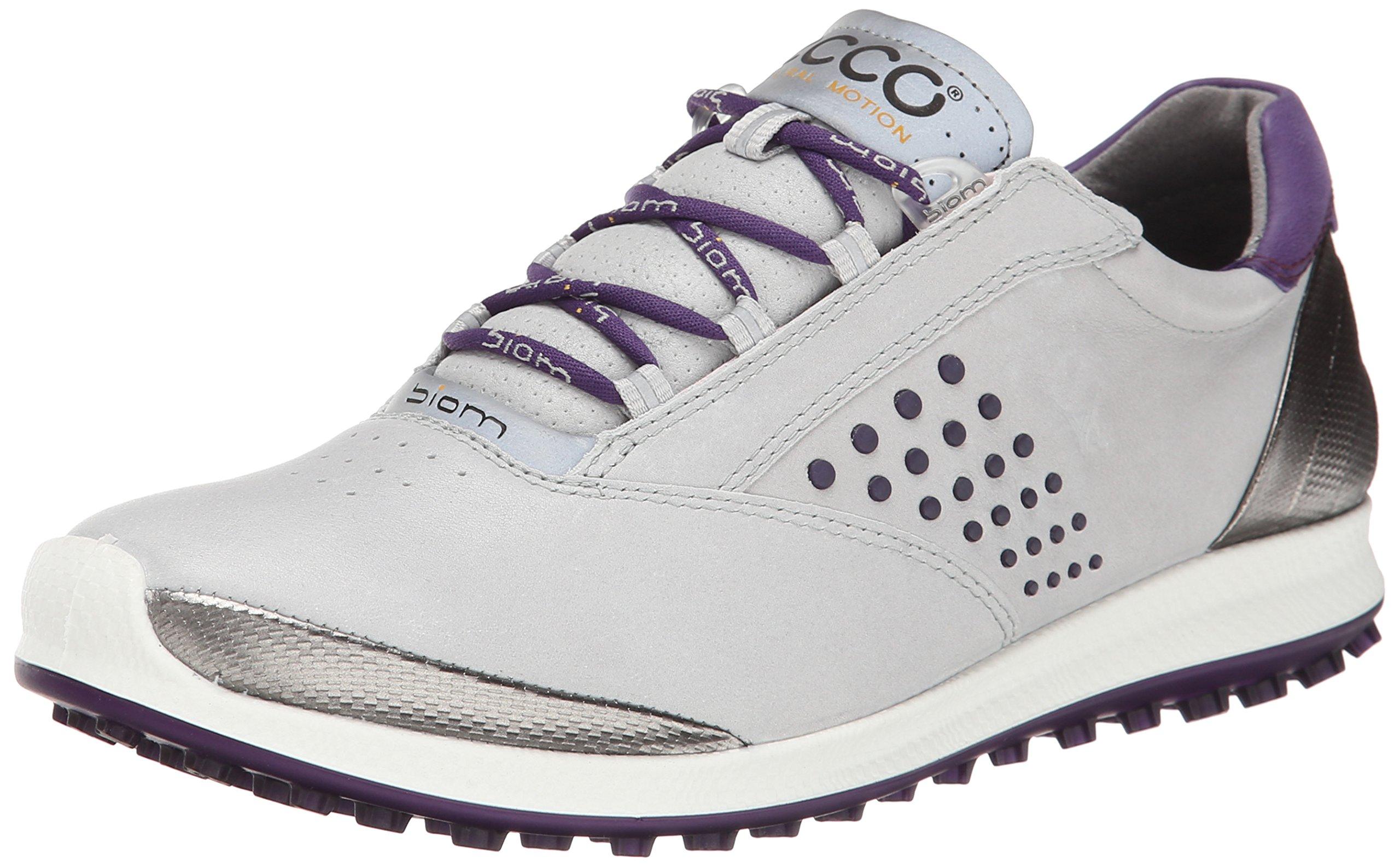 ECCO Women's Biom Hybrid 2 Golf Shoe,Concrete/Imperial Purple,41 EU/10-10.5 M US