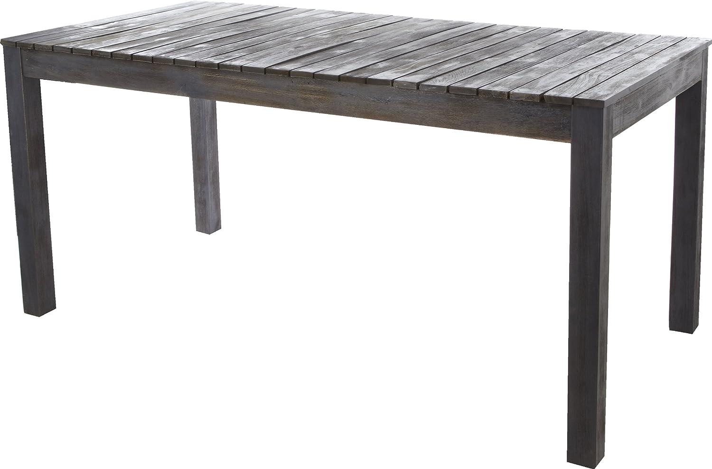 gartenfreude tisch gartentisch aus akazien holz akazienholz grau braun 160 x 80 x 75 cm lxbxh. Black Bedroom Furniture Sets. Home Design Ideas