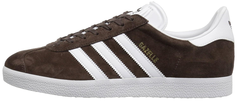 adidas Men's Gazelle Casual Sneakers B01HHJU6SC 12 M US|Brown/White/Metallic/Gold