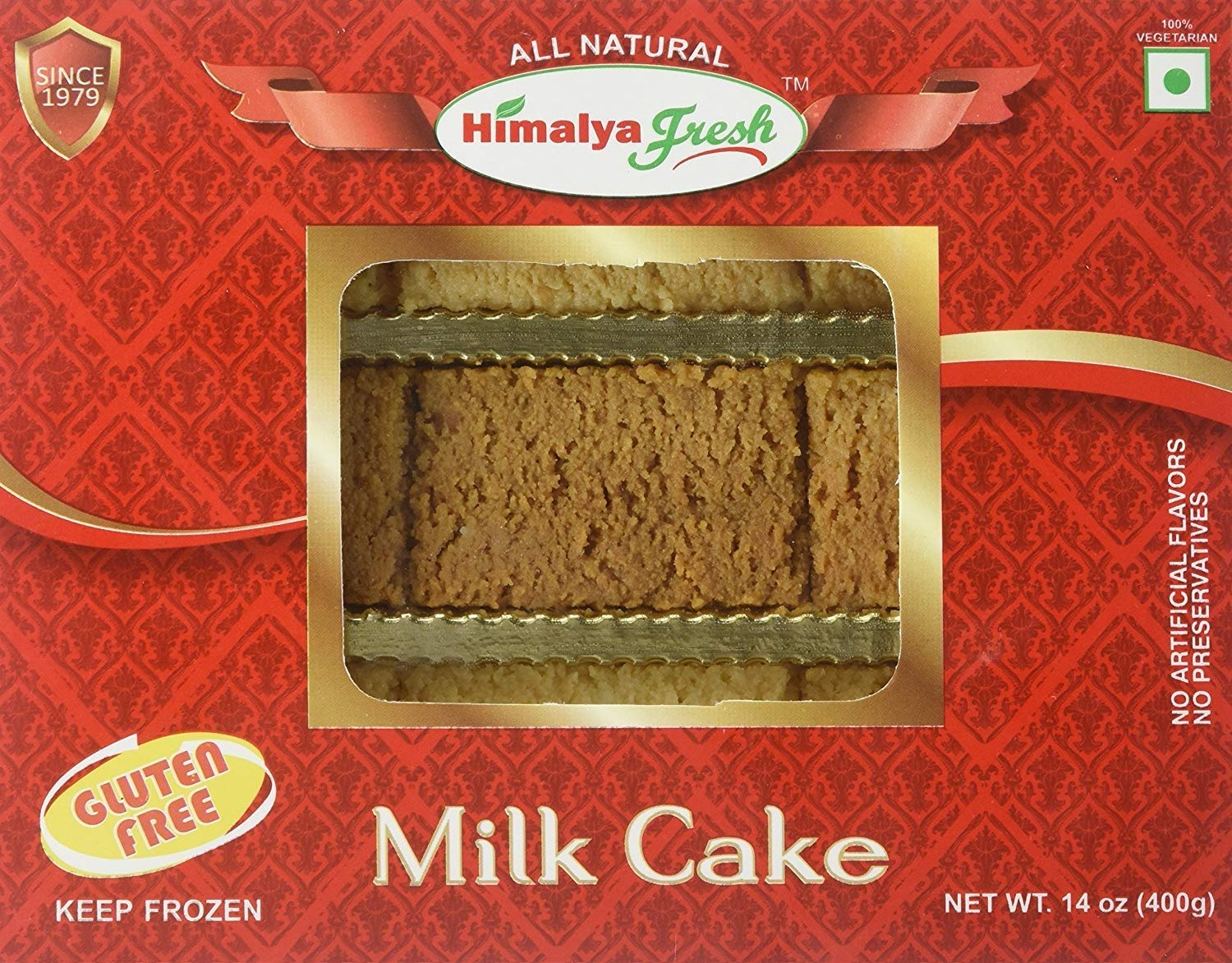 HIMALYA FRESH Milk Cake 14 oz - Premium Authentic, Luxurious Sweet Made With Pure Grass fed water Buffalo Milk and sugar (just two ingredients) - No Fillers Or Preservatives (2 Boxes) by Himalya Fresh