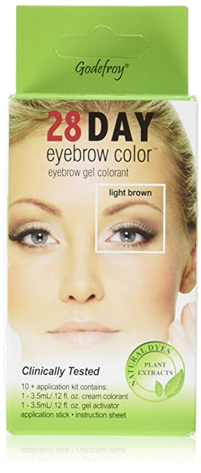 Amazon.com : Godefroy 1 Count 28 Day Eyebrow Color Light Brown 10 ...