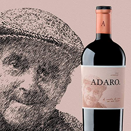 PRADOREY Adaro - Vino tinto - Crianza - Ribera del Duero - Vino de autor - 100% Tempranillo - Vino homenaje al fundador de la marca, Javier Cremades de Adaro - 1 Botella - 0,75 L