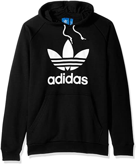 the latest 38af6 afdd5 adidas Originals Men s Trefoil Hoodie, Black, Small