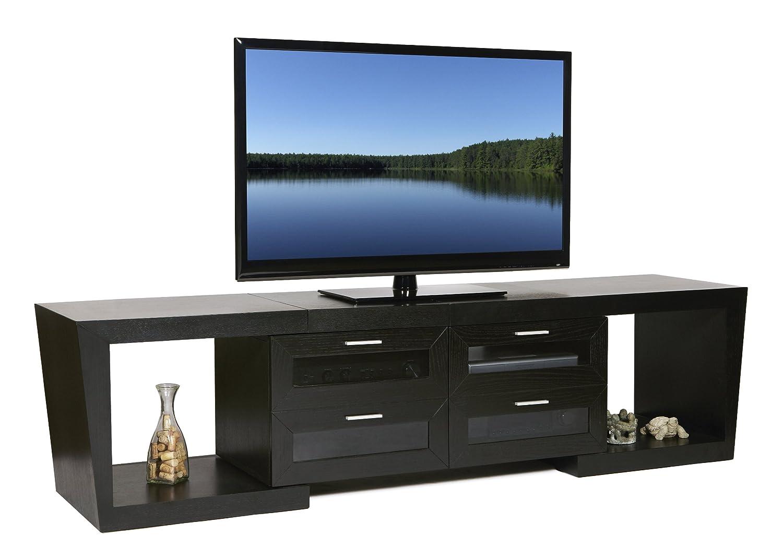 Amazon.com: Plateau VALENCIA 5187 B Wood Expandable TV Stand, 51 Inch To  87 Inch, Black Oak Finish: Kitchen U0026 Dining