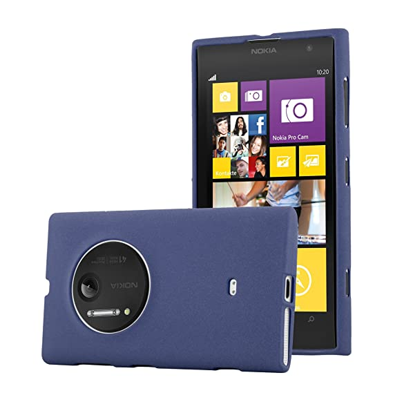 huge selection of 2d546 fc471 Amazon.com: Cadorabo Case Works with Nokia Lumia 1020 in Frost Dark ...