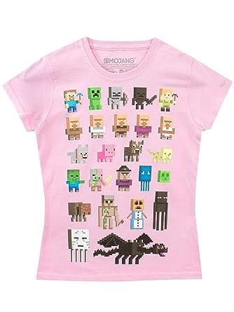 Minecraft - Camiseta para niñas  Amazon.es  Ropa y accesorios deb16a01cf114