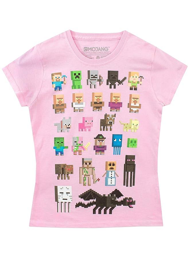 53a1e3846 Minecraft - Camiseta para niñas  Amazon.es  Ropa y accesorios