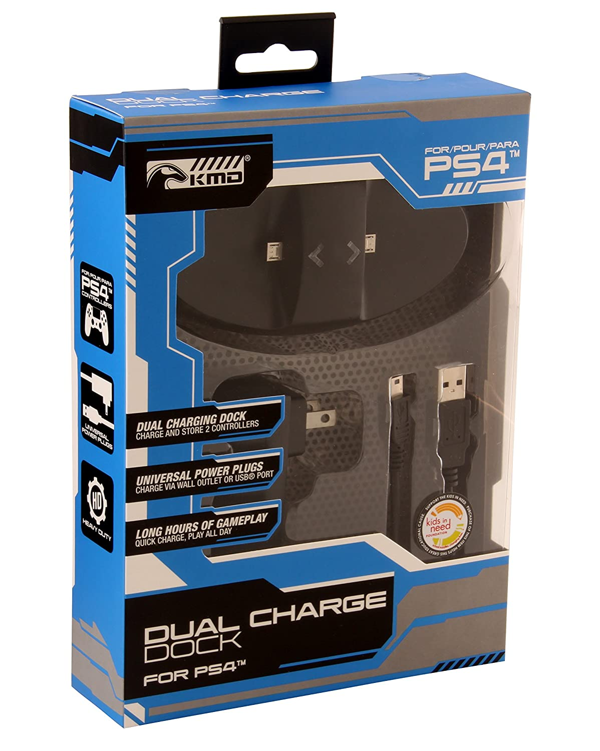 KMD Dual Charge Dock - Black