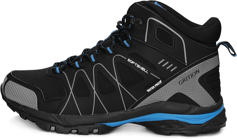 Botas para Caminar para Hombres GRITION Resbal/ón Impermeable en Botas de Senderismo Al Aire Libre Zapatos Ligeros de Cordones Protecci/ón para el Tobillo Calzado c/álido y Transpirable