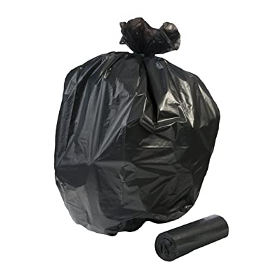 RUSB-32H, 300 count, 15 gallon strong, 24x32 inches, 0.65 full mil, black, trash liner bags, MADE IN USA: Industrial & Scientific