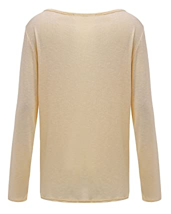 ANDERINA New Damen Pulli Langarm T-Shirt Rundhals Ausschnitt Lose Bluse  Langarmshirts Hemd Pullover Oversize Sweatshirt Oberteil Tops Shirts:  Amazon.de: ...