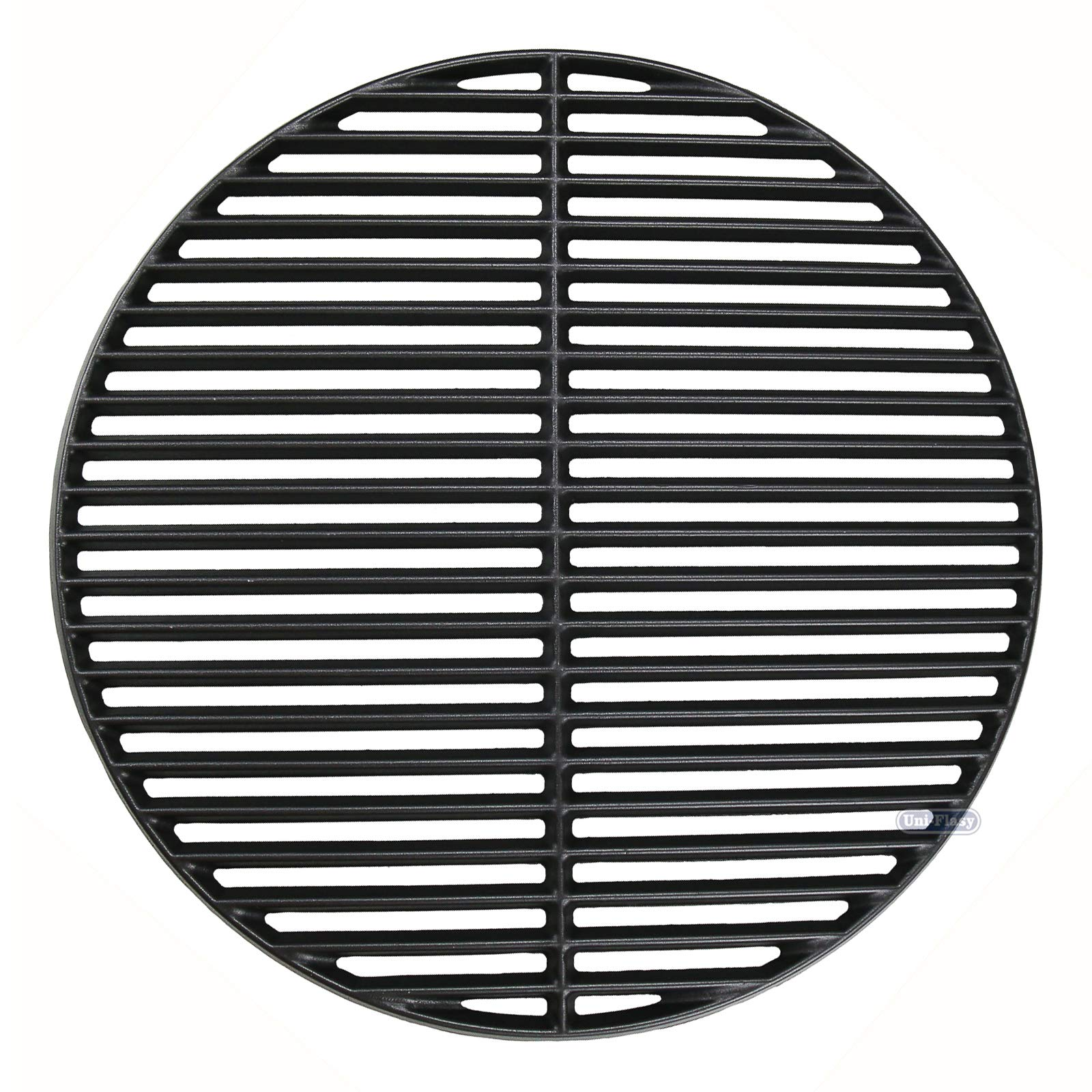 Uniflasy Cast Iron Cooking Grid Grates for Large Big Green Egg/ (L) BGE, Vision Grill VGKSS-CC2, B-11N1A1-Y2A Kamado Charcoal Grill Accessories, 18 3/16 Inches by Uniflasy