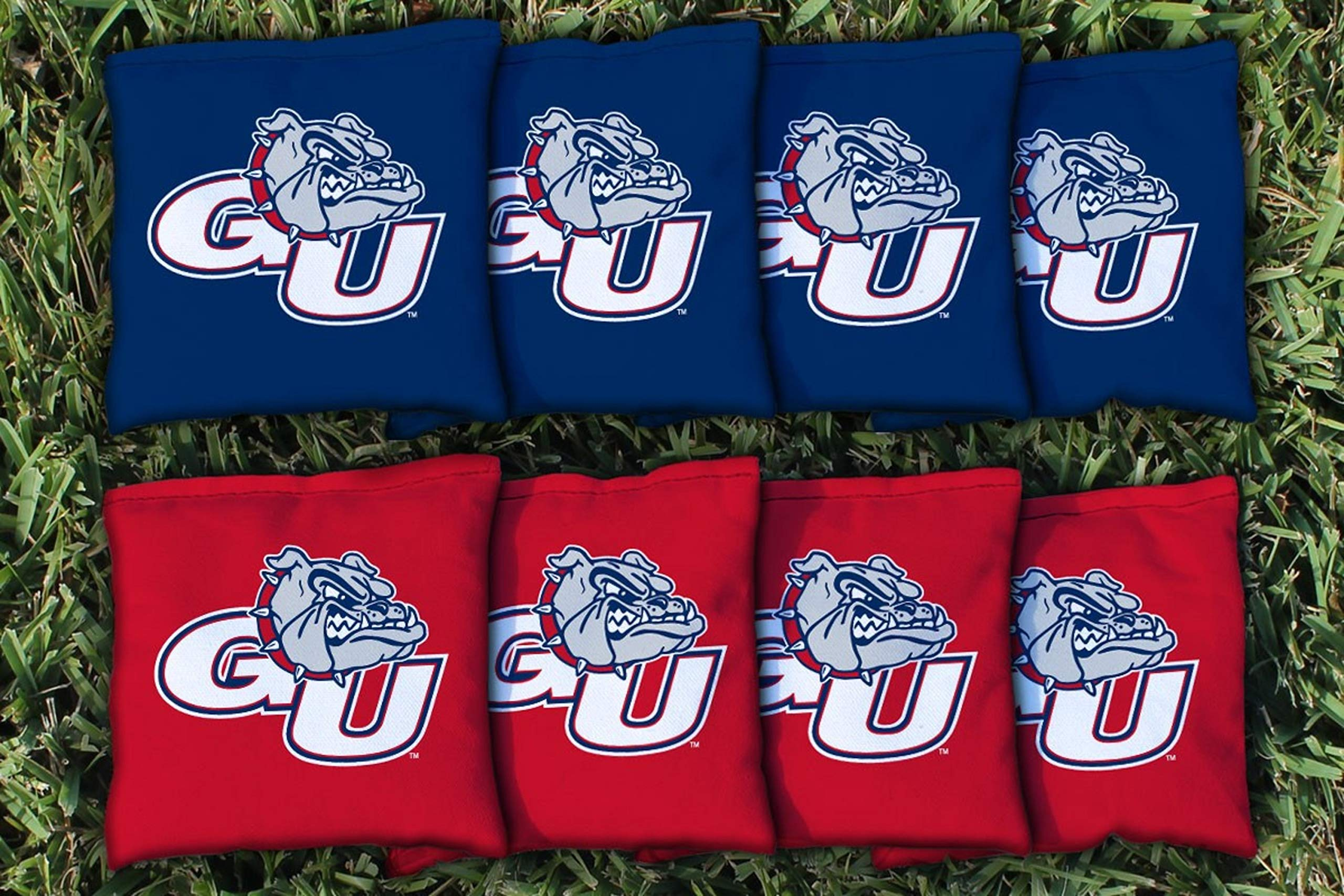 Victory Tailgate NCAA Regulation Cornhole Game Bag Set (8 Bags Included, Corn-Filled) - Gonzaga University Zags by Victory Tailgate (Image #1)