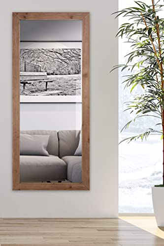 Finehous Full Length Rustic Mirror for Wall Large Mirror 55 x23 Rustic Brown