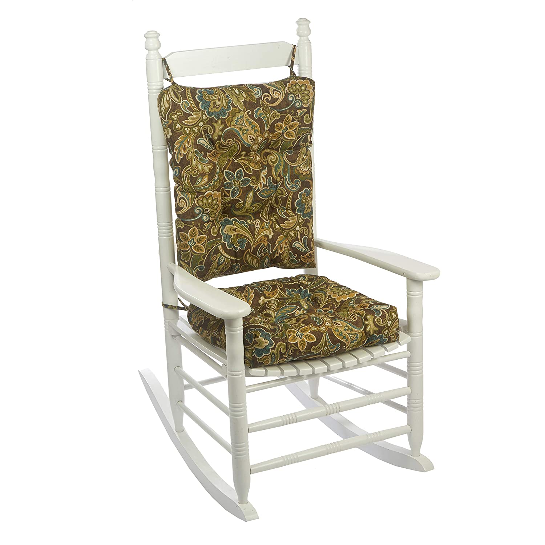 Phenomenal Klear Vu Indoor Outdoor Overstuffed Rocking Chair Pad Cushion Set 19 X 19 Brown Interior Design Ideas Pimpapslepicentreinfo
