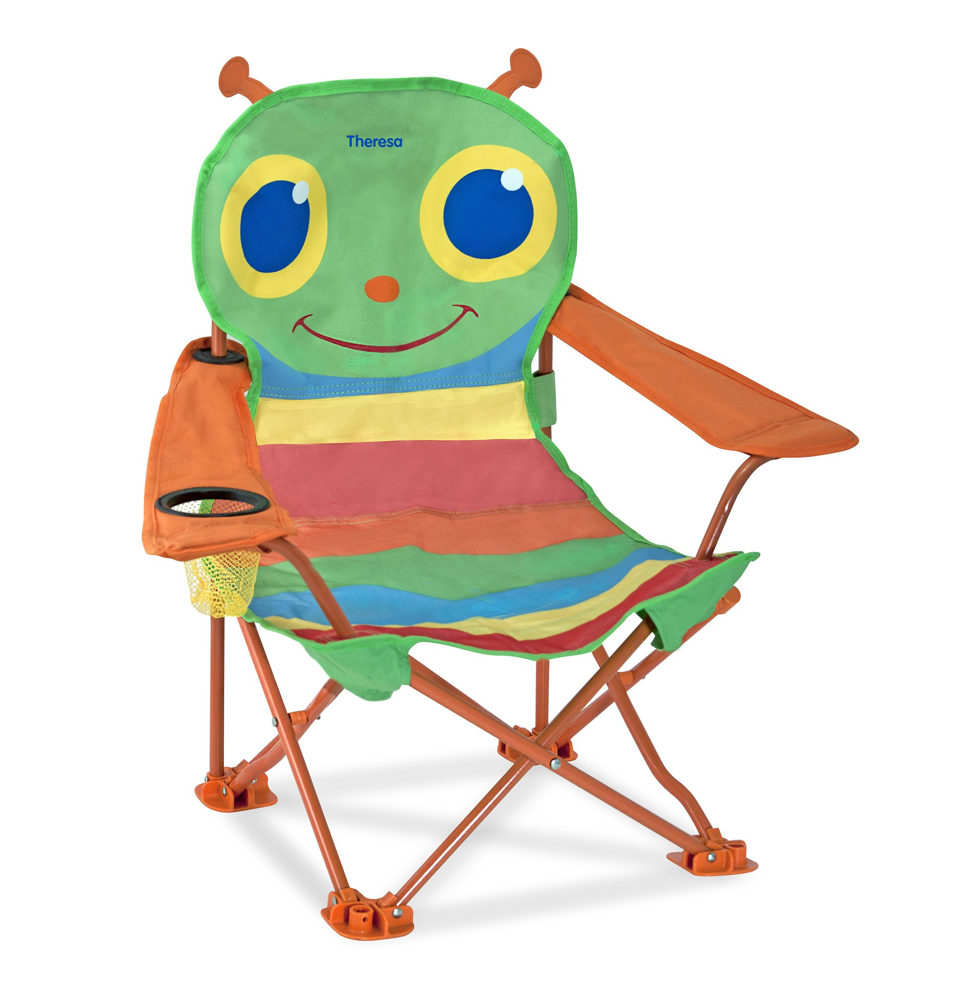 Melissa & Doug Personalized Sunny Patch Happy Giddy Outdoor Folding Lawn and Camping Chair