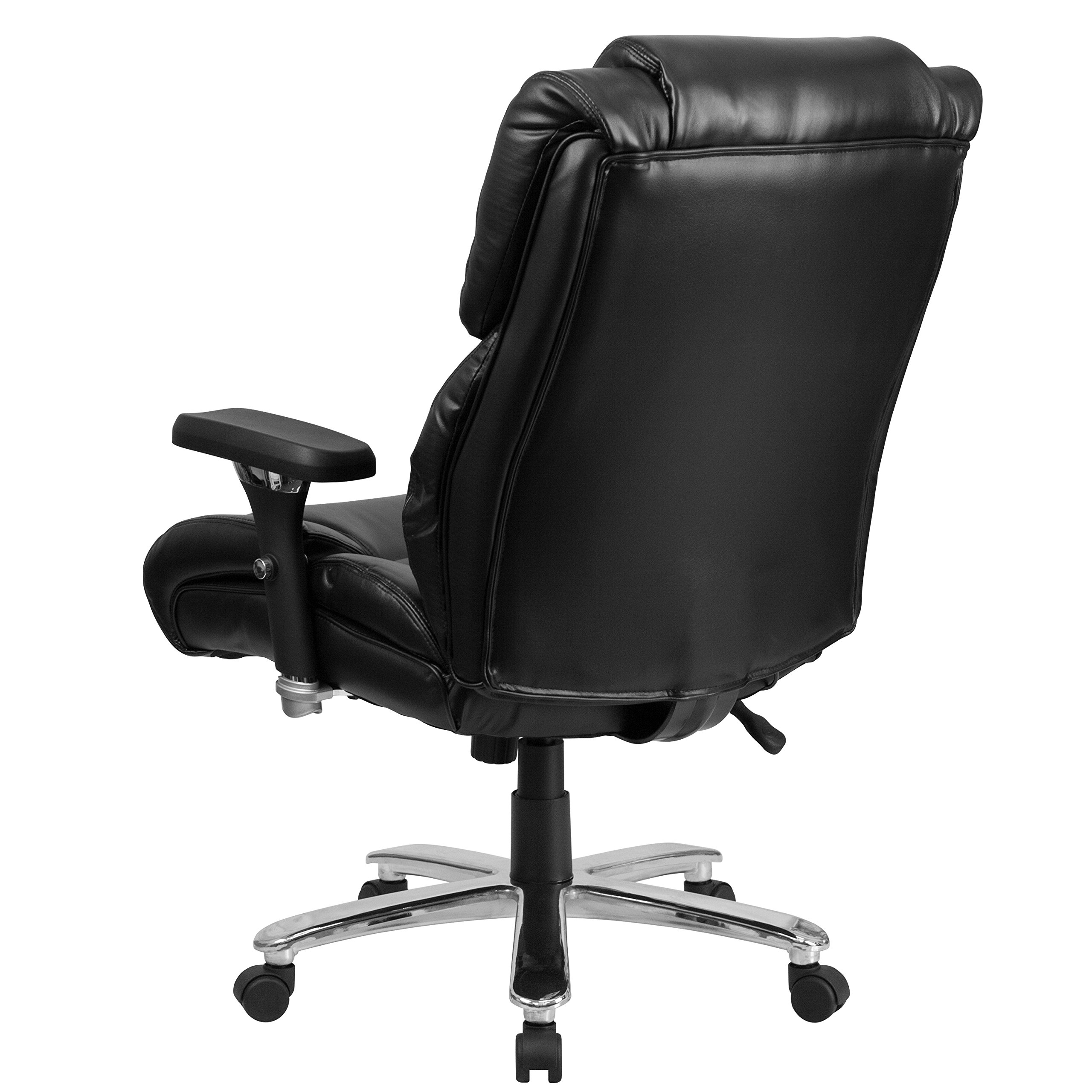 Flash Furniture HERCULES Series 24/7 Intensive Use Big & Tall 400 lb. Rated Black Leather Executive Swivel Chair with Lumbar Knob by Flash Furniture (Image #3)