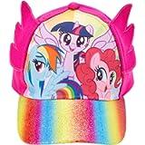 Hasbro Little Girls My Little Pony Cotton Baseball Cap, Rainbow Dash, Dimensional Ears, Age 4-7