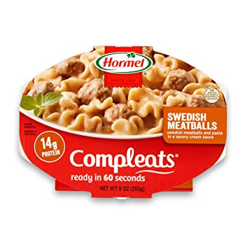 Hormel Compleats Swedish Meatballs with Pasta in Cream Sauce