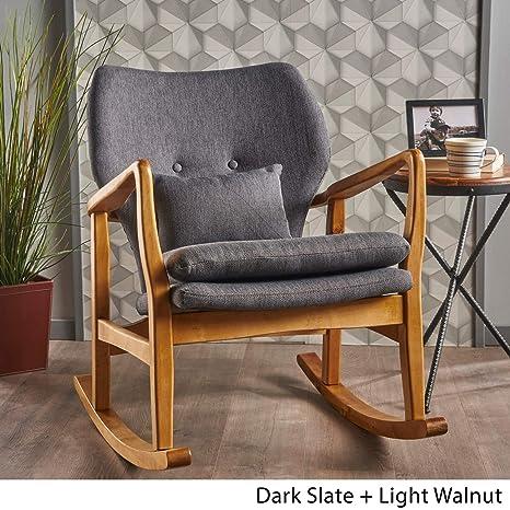 Amazon.com: Moderna silla de balancín de tela – Sillón ...