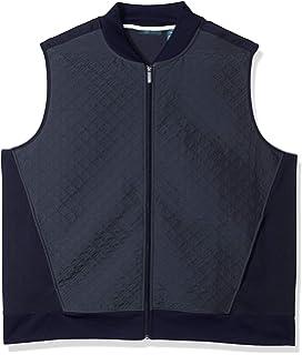 Perry Ellis Men/'s Full Zip Texture Knit Vest Jacket Gray Big tall 2X 2XLT