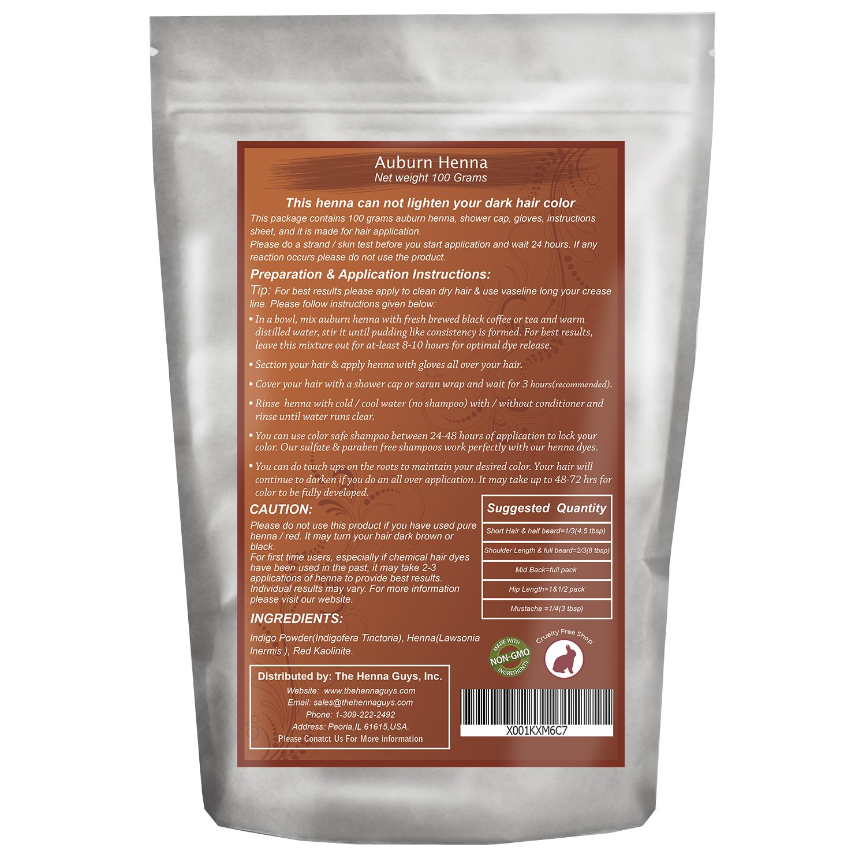 Amazon Com Jet Black Henna Hair Color Dye 200 Grams 2 Step