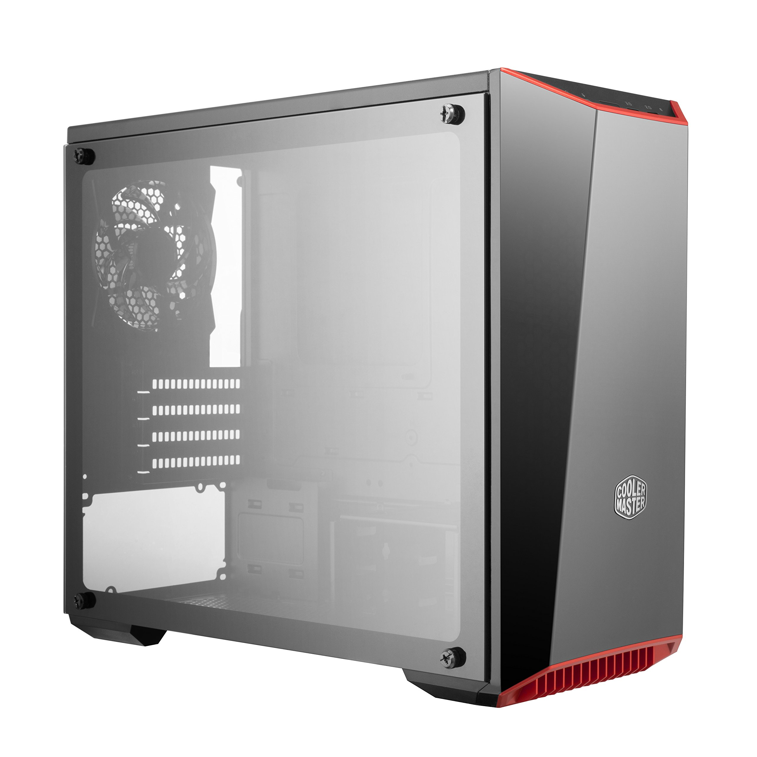 Cooler Master MasterBox Lite 3.1 TG Computer Case 'Dark Mirror Front Panel, Customisable Trim Colours, Tempered Glass Side Panel' MCW-L3S3-KGNN-00 by Cooler Master