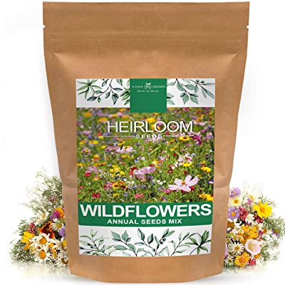 Wildflower Seeds | Mix of 21 Different Varieties of Non-GMO Wildflower Seeds | Bee and Butterfly Garden Seeds | Colorful Annual Flower Seeds | American Wildflower Seeds for Your Garden : Garden & Outdoor
