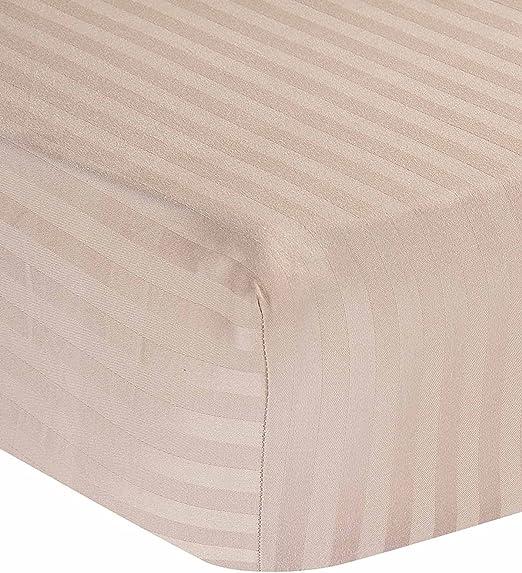 PC Diana Linen- sábana Bajera Solo, 400 Hilos 100% algodón 35 cm de Profundidad Largo –