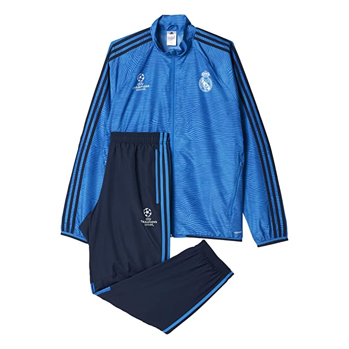 adidas Real Madrid UCL Präsentationsanzug-Blau Chándal ...