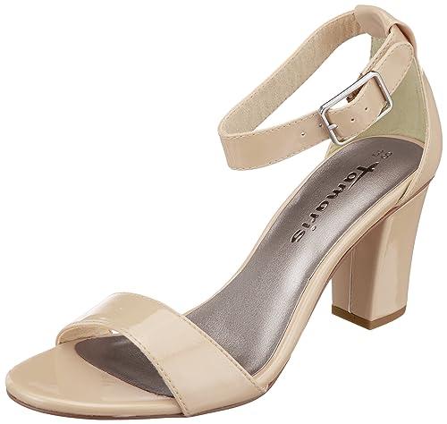 Tamaris 28018 Sandali con Cinturino alla Caviglia Donna Beige Nude