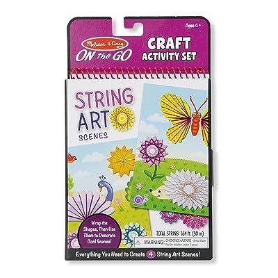 Melissa & Doug On-The-Go Crafts String Art Scenes Activity Set: Toys & Games