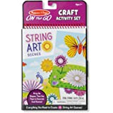 Melissa and Doug On the Go Crafts String Art Scenes Activity Set, Multi Color