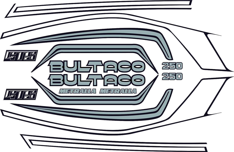 Kit de adhesivos motos clasicas Bultaco METRALLA GTS Gris ...