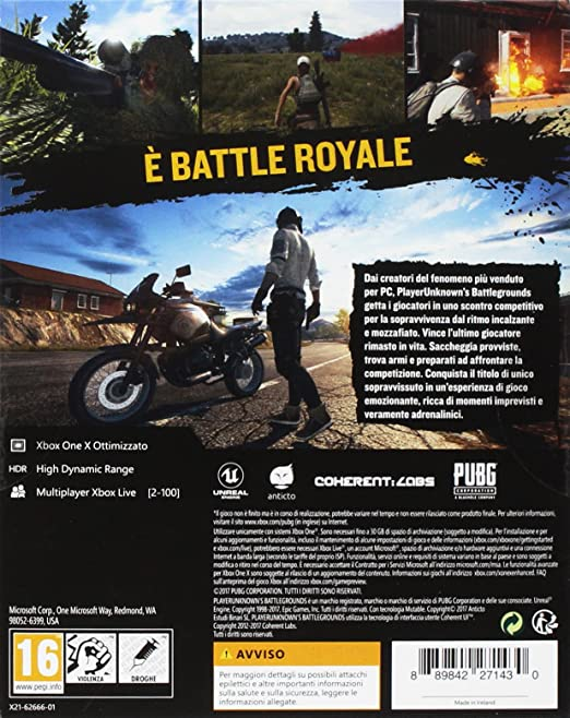 PlayerUnknowns Battlegrounds - PUBG - Xbox One [Importación ...